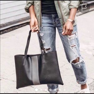 Vince Camuto Luck Tote Black and Gray